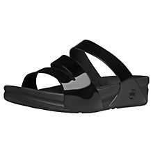 Buy FitFlop Superjelly Sandals, Black Online at johnlewis.com