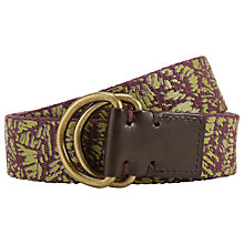 Buy JOHN LEWIS & Co. Tropical Canvas Belt Online at johnlewis.com