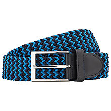 Buy John Lewis Two Tone Woven Leather Belt Online at johnlewis.com