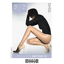 Buy Wolford 20 Denier Satin Touch Tights, 3 for 2 Pack, Black Online at johnlewis.com