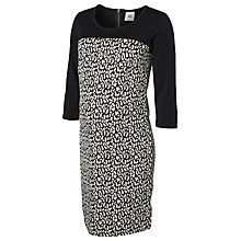 Buy Mamalicious Jasmin Jersey Maternity Dress, Black/White Online at johnlewis.com