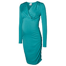 Buy Mamalicious Zigga Long Sleeve Jersey Maternity Dress, Jade Green Online at johnlewis.com