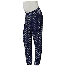 Buy Mamalicious Sari Woven Loose Maternity Trousers, Navy/White Online at johnlewis.com