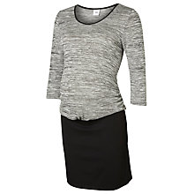 Buy Mamalicious Jenda Jersey Maternity Dress, Grey/Black Online at johnlewis.com