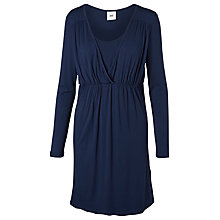 Buy Mamalicious Tico Tess Jersey Nursing Dress, Navy Online at johnlewis.com