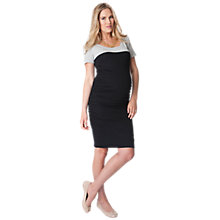 Buy Séraphine Bethany Bodycon Short Sleeve Maternity Dress, Black Online at johnlewis.com