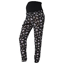 Buy Mamalicious Milly Floral Print Maternity Trousers, Black Online at johnlewis.com