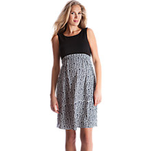 Buy Séraphine Fernanda Sleeveless Maternity Dress, Black/White Online at johnlewis.com