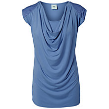 Buy Mamalicious Sally Nell Short Sleeve Jersey Maternity Top, Blue Online at johnlewis.com