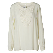 Buy Mamalicious Ella Lia Long Sleeve Woven Nursing Top, Snow White Online at johnlewis.com