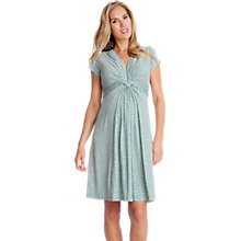 Buy Séraphine Jolene Dot Short Sleeve Maternity Dress, Sage Online at johnlewis.com