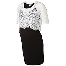 Buy Mamalicious Vanessa Maternity Dress, Black/White Online at johnlewis.com