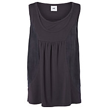 Buy Mamalicious Limal Nell Mix Maternity Top, Black Online at johnlewis.com