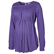 Buy Mamalicious Shashi Long Sleeve Woven Maternity Top, Purple Online at johnlewis.com