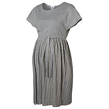 Buy Mamalicious Maje Jersey Maternity Dress, Grey Online at johnlewis.com
