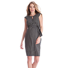 Buy Seraphine Britney Wrap Maternity Dress, Black/White Online at johnlewis.com