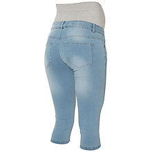 Buy Mamalicious Lida Capri Maternity Jeans, Denim Blue Online at johnlewis.com