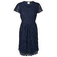 Buy Mamalicious Lace Maternity Dress, Black Iris Online at johnlewis.com