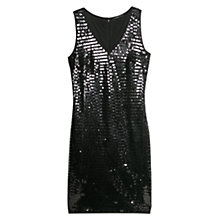 Buy Mango Sequinned Dress, Black Online at johnlewis.com