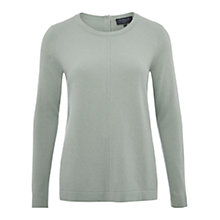 Buy Viyella Petite Button Back Jumper, Green Online at johnlewis.com