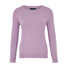 Buy Viyella Mini Cable Knit Jumper, Lavender Online at johnlewis.com
