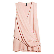 Buy Mango Draped Top, Pastel Pink Online at johnlewis.com