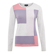 Buy Viyella Colour Block Top, Smokey Lavender Online at johnlewis.com