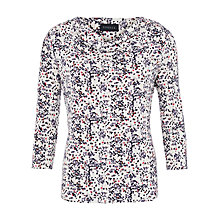 Buy Viyella Blossom Print Jersey Top, Ivory Online at johnlewis.com