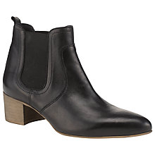 Buy Somerset by Alice Temperley Cassie Leather Ankle Boots, Black Online at johnlewis.com