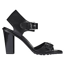 Buy Whistles Mia Leather Sandals, Black Online at johnlewis.com