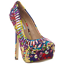 Buy Steve Madden Ditzy Embellished Platform Court Shoes, Bright Multi Online at johnlewis.com