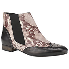 Buy Somerset by Alice Temperley Aurora Leather Ankle Boots, Black Online at johnlewis.com