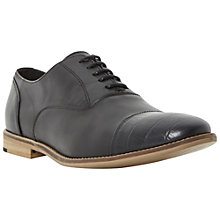Buy Bertie Ratton Croc Toe Detail Leather Oxford Shoes, Black Online at johnlewis.com