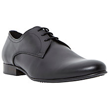Buy Bertie Rattle Leather Derby Shoes, Black Online at johnlewis.com