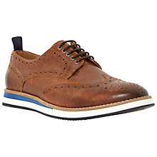 Buy Dune Bromance Leather Brogue Derby Shoes, Tan Online at johnlewis.com