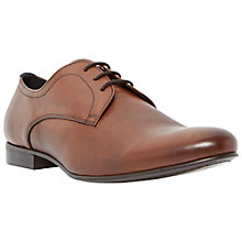 Buy Bertie Rattle Leather Derby Shoes, Tan Online at johnlewis.com