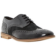 Buy Bertie Aston Leather and Suede Brogue Derby Shoes, Black Online at johnlewis.com