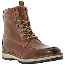 Buy Dune Creigor Leather Lace Up Boots, Brown Online at johnlewis.com