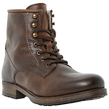 Buy Dune Crush Leather Lace-Up Boots Online at johnlewis.com