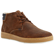 Buy Dune Stepper Chukka Boots, Dark Brown Online at johnlewis.com