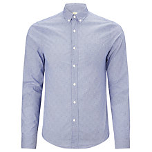 Buy Bellerose Ignacio Spotted Cotton Long Sleeved Shirt, Light Blue Online at johnlewis.com