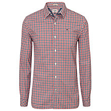 Buy Tommy Hilfiger Norbert Fine Check Shirt, Red Online at johnlewis.com