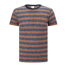 Buy Bellerose Slub Fine Stripe T-Shirt, Red/Navy Online at johnlewis.com