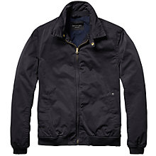 Buy Scotch & Soda Waxed Bomber Jacket, Black Online at johnlewis.com
