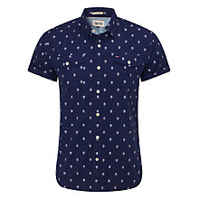 Buy Hilfiger Denim Nassau Short Sleeve Shirt, Twilight Blue Online at johnlewis.com