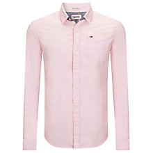 Buy Hilfiger Denim Teddy Long Sleeved Shirt, Sea Pink Online at johnlewis.com