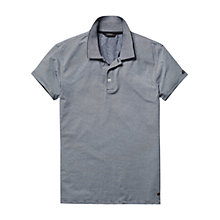 Buy Scotch & Soda Stripe Jersey Polo Shirt, Light Blue Online at johnlewis.com