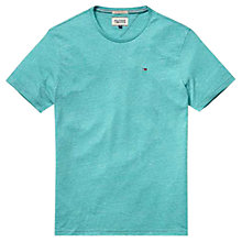 Buy Hilfiger Denim Hanson Crew Neck T-Shirt, Deep Peacock Blue Online at johnlewis.com