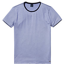 Buy Scotch & Soda Fine Stripe Crew Neck T-Shirt, Navy Online at johnlewis.com