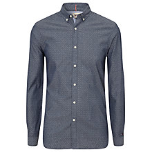 Buy Hilfiger Denim Zane Patterned Shirt, Black Iris Online at johnlewis.com